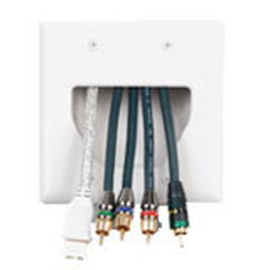 CABLEPLATE REC 2-GANG WHT