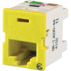 CAT6 YELLOW TRAC JACK