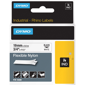 1/2 X11.5 YEL FLX NYLON LABEL