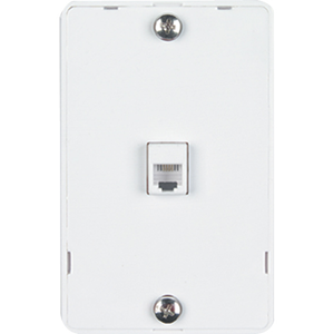 WALLPLATE 1-GANG RJ11 SCREW WH