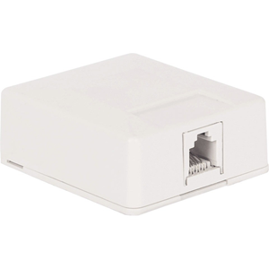 1-PORT 6P6C SURF MNT BOX WHITE