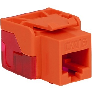 CAT6 INSERT 8P8C EZ ORANGE