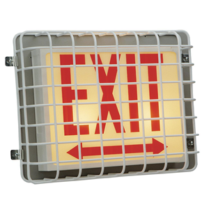 EXIT LIGHT STEEL CAGE COVER