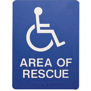 AREA OF RESCUE  SIGN POLYCARB