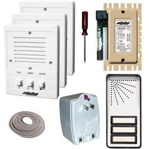 3 UNIT APARTM INTERC KIT&WIRE