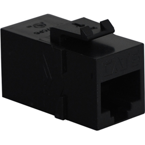 MODULE, COUPLER, CAT 6, BLACK