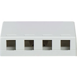 4P SURFACE MOUNT BOX WH