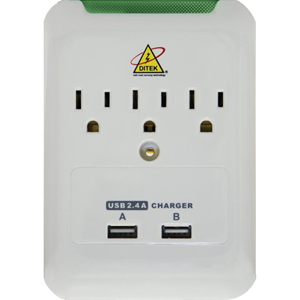 3-OUTLET WALL-MOUNT CHARGING S