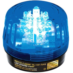 54 LED STROBE W SIREN, BLUE