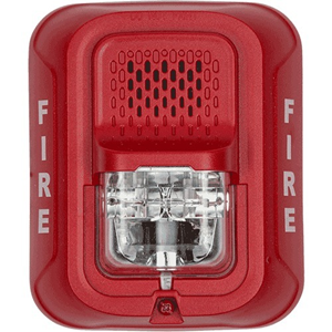 HORN STROBE 2W RED WALL