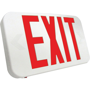 LED EXIT AC ONLY RED LTR,WHITE