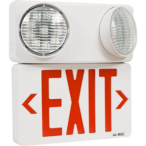 LED EMER EXIT SIGN WITH TWIN