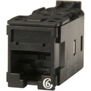 HD JACK,CAT6,CLARITY,T568A/BLK